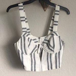 Stripe corset crop top